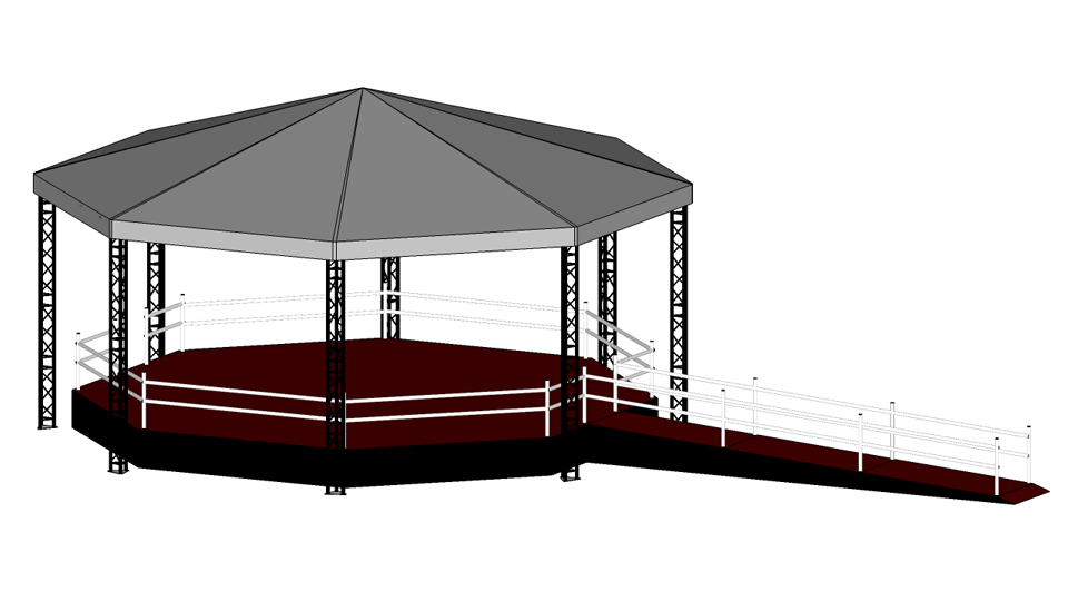 Bandstand hire 2 with accessibility ramp